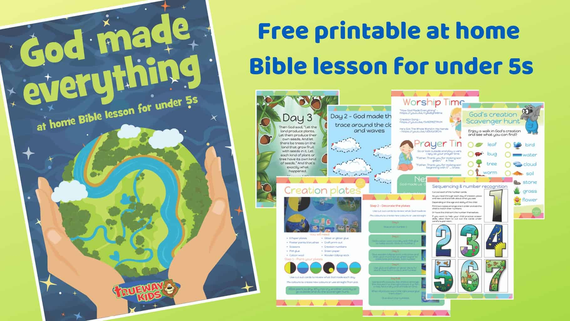graphic regarding Bible Lessons for Adults Free Printable known as God developed almost everything - Free of charge printable Bible lesson for