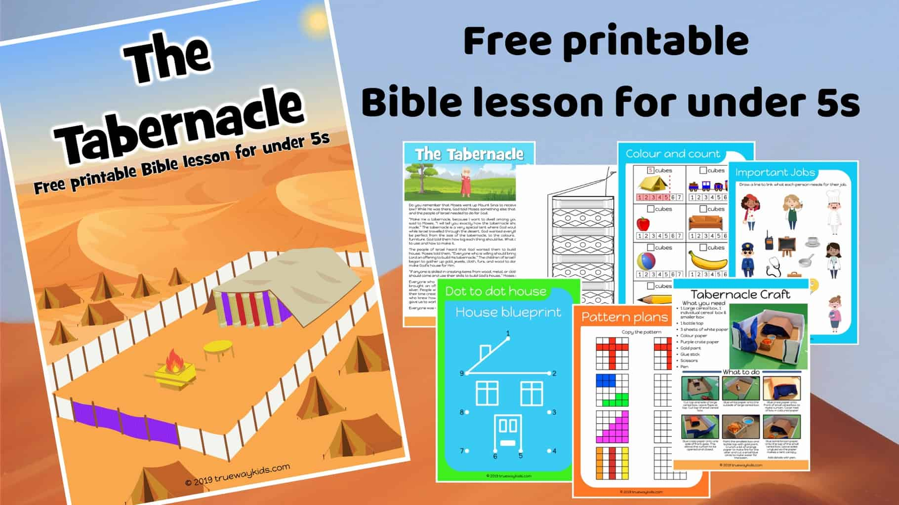 The tabernacle lesson download - Free Bible lesson for under