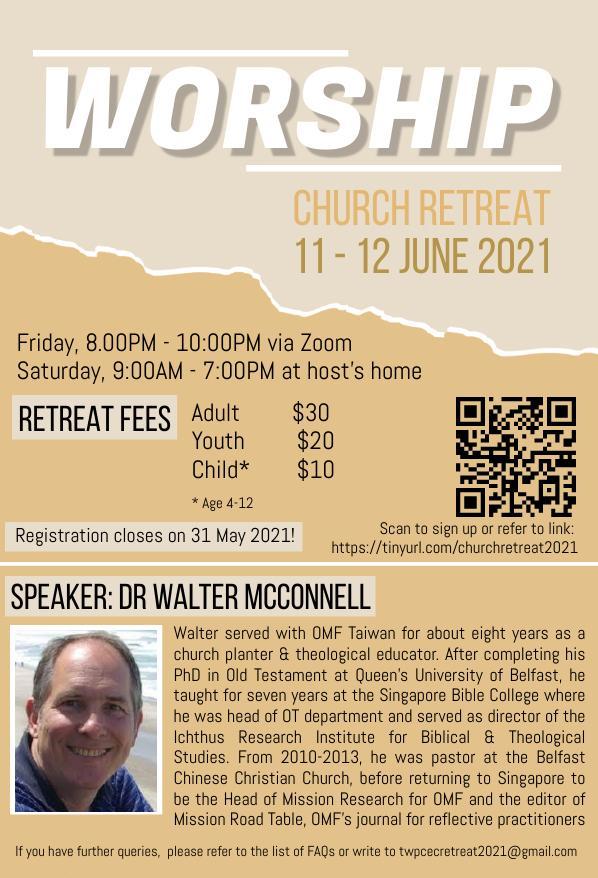 Church Retreat 11-12 June 2021
