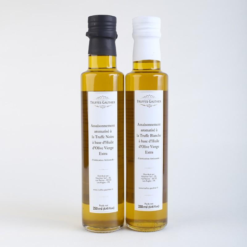 assaisonnement aromatise a la truffe noire a base d huile d olive vierge extra
