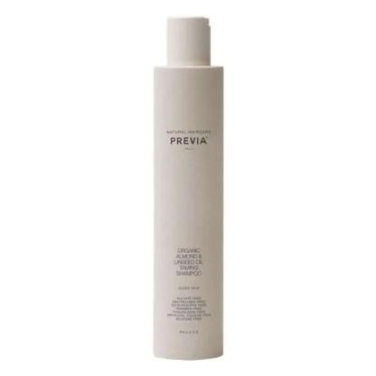 Previa Almond & Linseed Oil Taming Shampoo - Укрощающий шампунь c органическим экстрактом миндаля и маслом семени льна