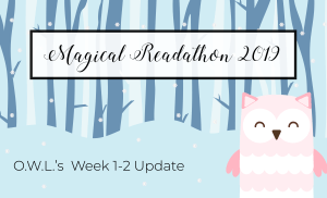 O.W.L.'s Readathon Week 1-2 Update & Tome Topple Round 8 TBR
