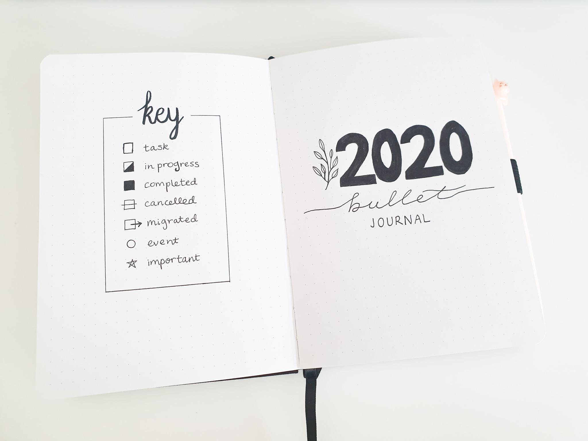 My 2020 Bookish Bullet Journal Setup