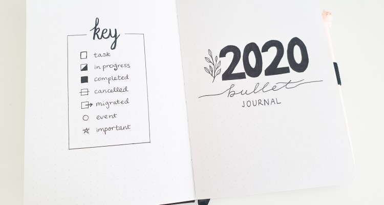 My 2020 Bookish Bullet Journal Setup