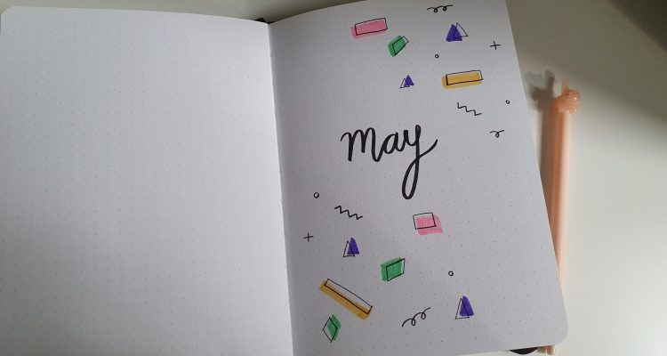 My May Bookish Bullet Journal Snippets + Uni Student Spreads