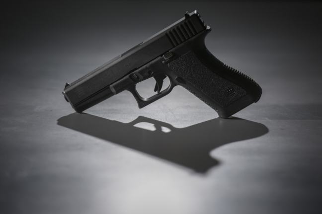 A 9mm pistol. (Jahi Chikwendiu/The Washington Post)