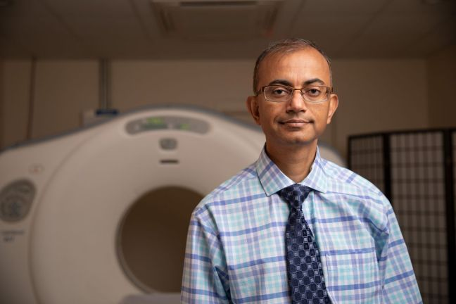 "Dr. Gajendra Singh, a surgeon in Winston-Salem, North Carolina, who opened his own medical imaging center. He is suing to overturn the state's ""certificate of need"" law.  Courtesy of the Institute of Justice"