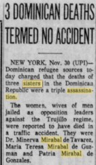 mirabal sisters death claimed no accident mentions degalindez