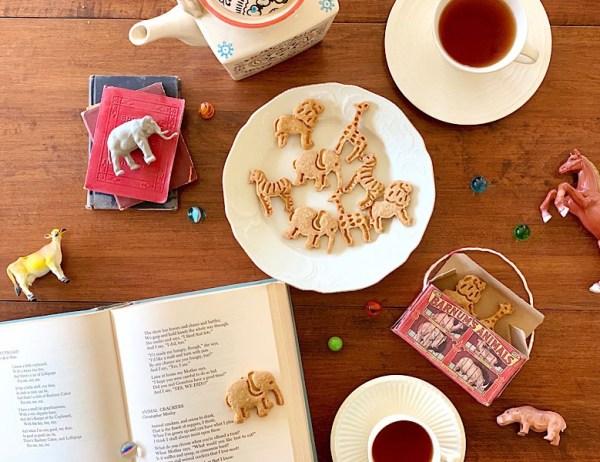 animal crackers, poetry, books