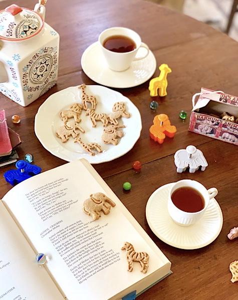 homemade animal crackers with tea