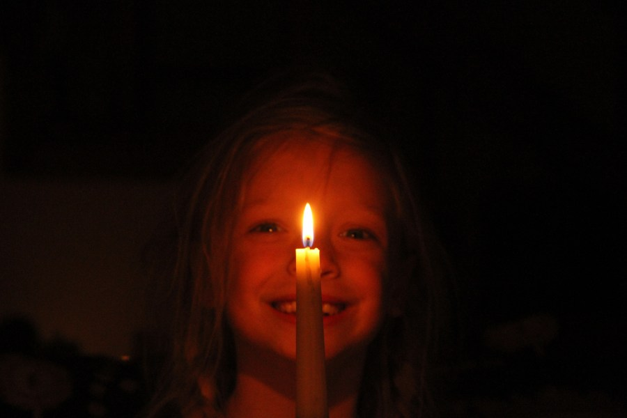 Georgia with candle