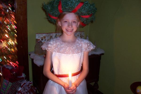 Carolina dressed for Santa Lucia