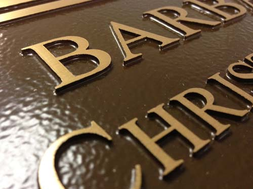cast bronze memorial plaques