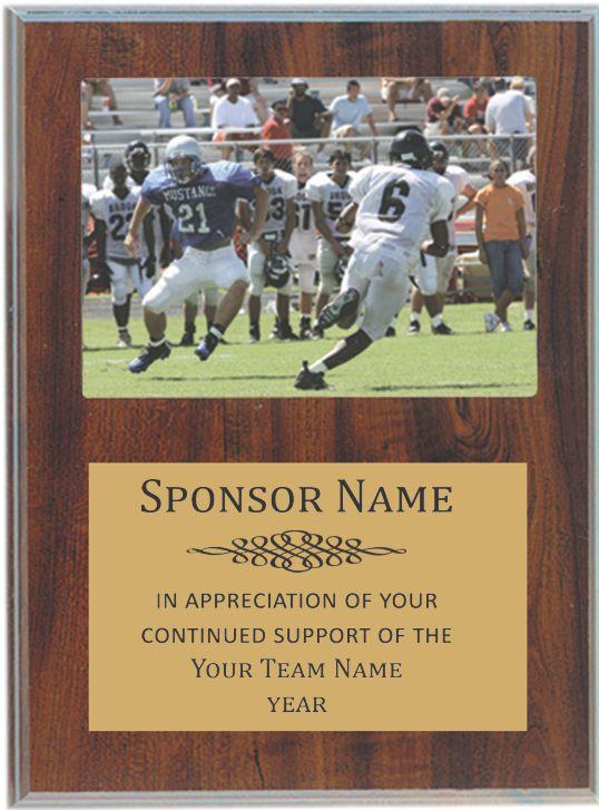 Team sponsor plaque