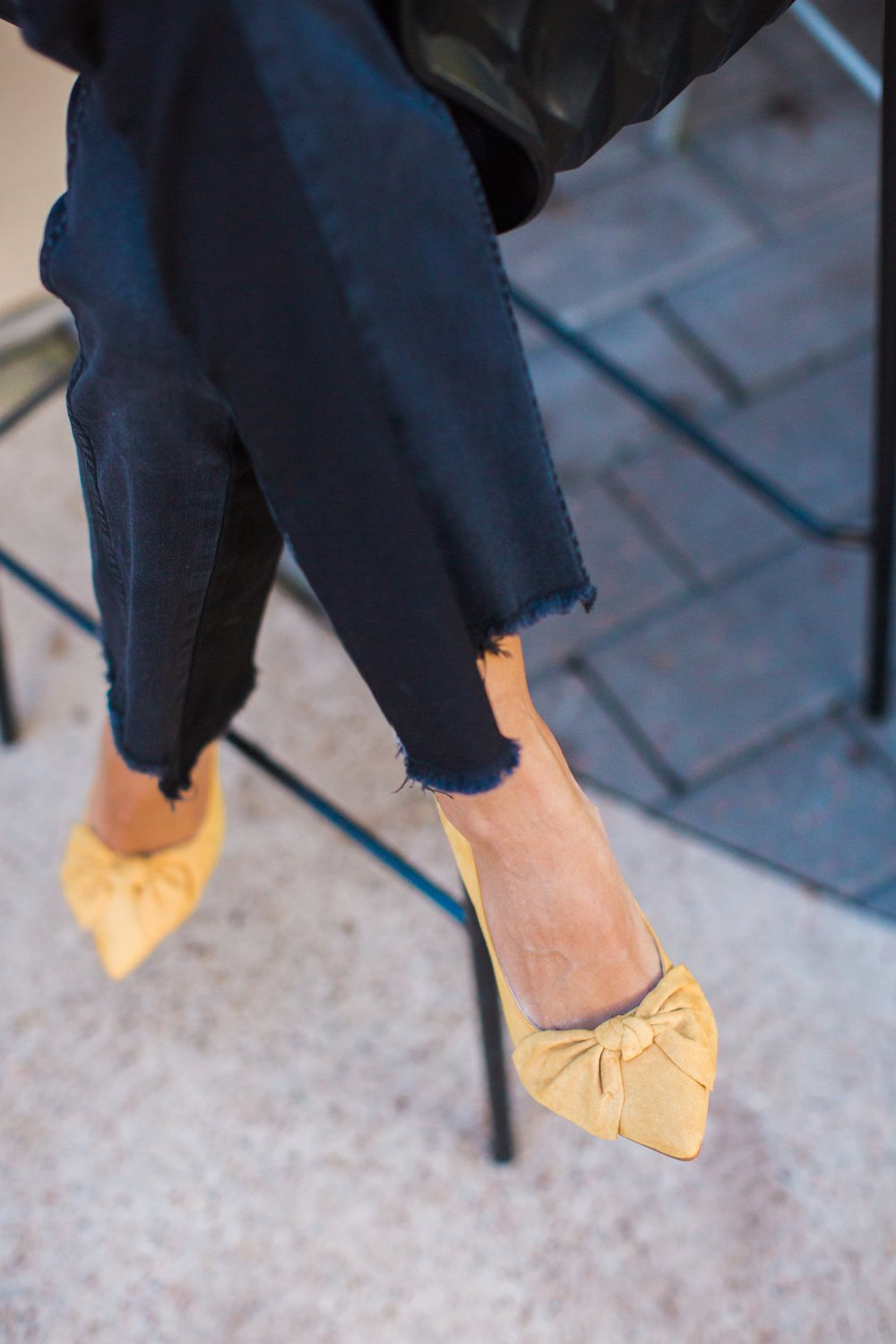 These shoes! They are a gorgeous shade of yellow and the bow is the perfect, girly detail!