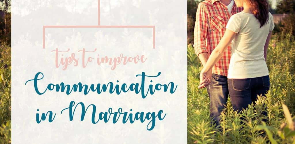 Husband and wife outside communicating. Alarmed at how hard it is to communicate with your spouse? Use these tips to improve communication in your marriage.