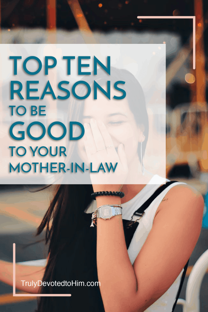 Since the in-laws don't get shipped off to the Bermuda Triangle after the wedding, enjoy this Top 10 List. Top Ten Reasons to be Good to your Mother-in-Law. Good luck girl!