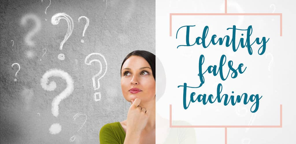 Women ask questions in order to identify false teachings