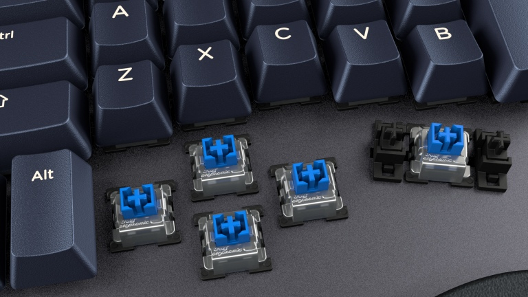 Truly Ergonomic Cleave Infrared Switches Tactile Clicky