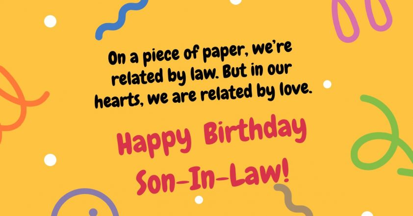 Happy Birthday Son In Law Funny Sincere Birthday Messages Quotes Wishes For Son In Law