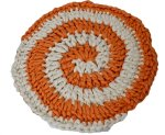 arm knitted swirl rug
