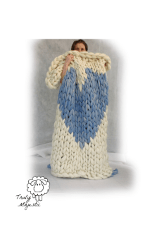 heart blanket knit kit for arm knitting