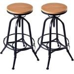 wood metal bar stool