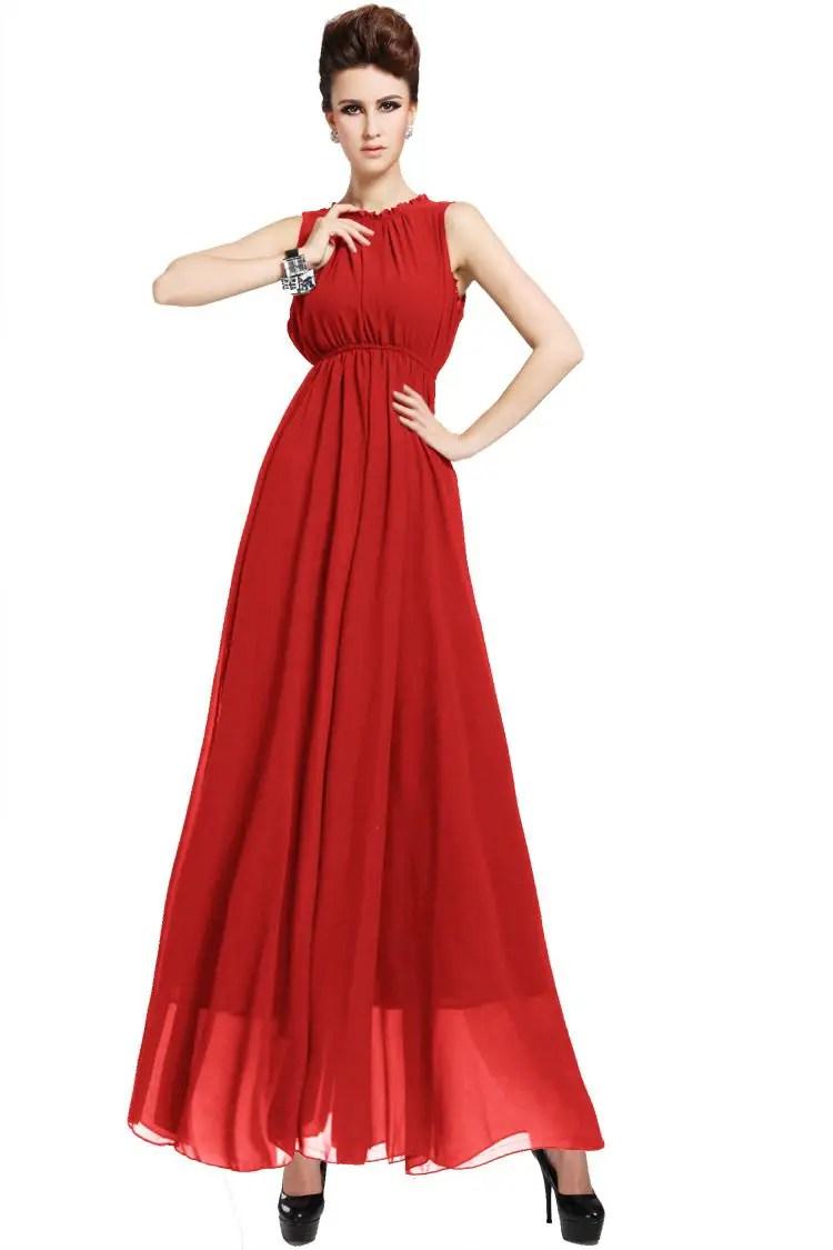 2018-Cheap-Black-Chiffon-Red-Elegant-Dress-Ladies-Slim-Plus-Size ...