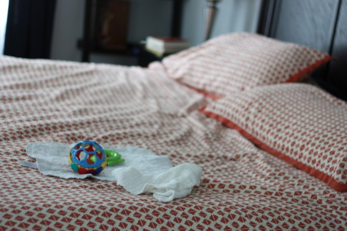 What a Parent's Bed looks like after baby
