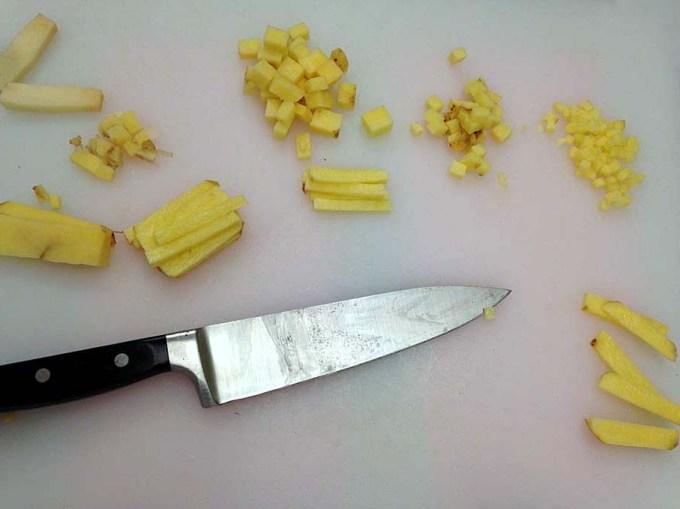 How to Cut a Potato