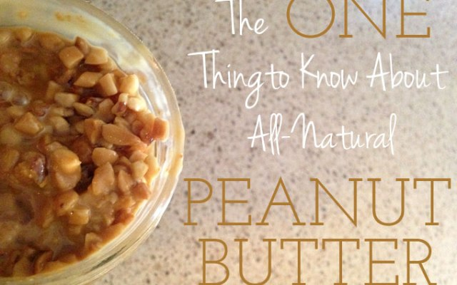 Solving Seperation Issues with Peanut Butter