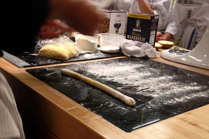 Rolling Out Gnocchi in Pasta Making Cooking Class