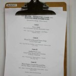 Menu for Cooking School Graduation Dinner