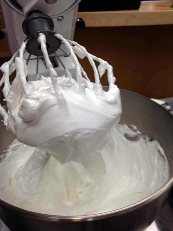 Italian meringue tastes as pretty as it looks.
