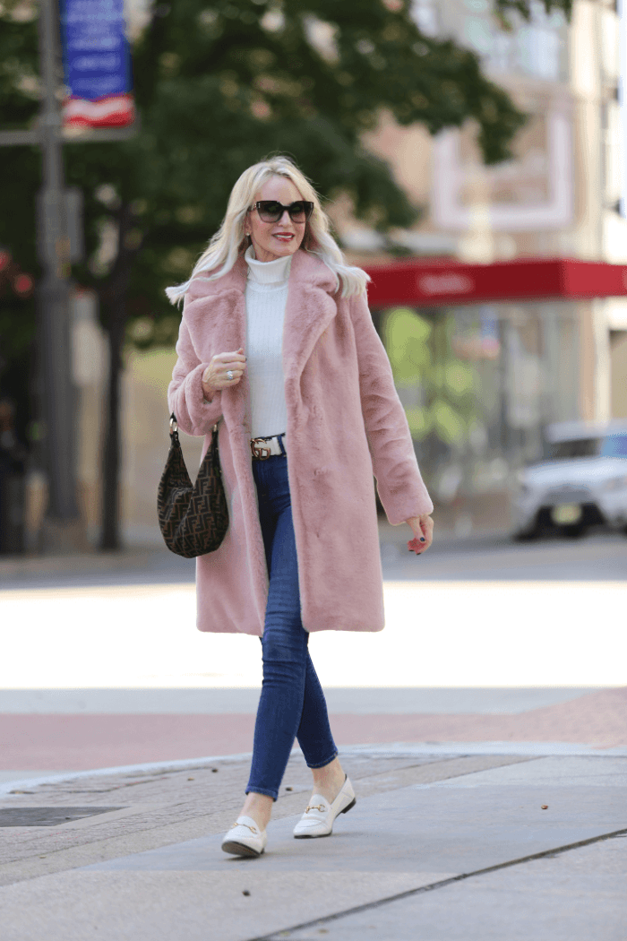 The Prettiest Pink Faux Fur Coat + $99 Prada Sunglasses!