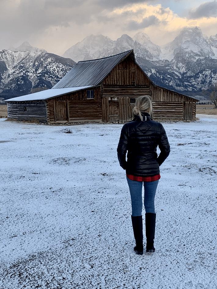 Dallas lifestyle blogger Truly Megan visits Mormon Row in Jackson Hole, Wyoming.