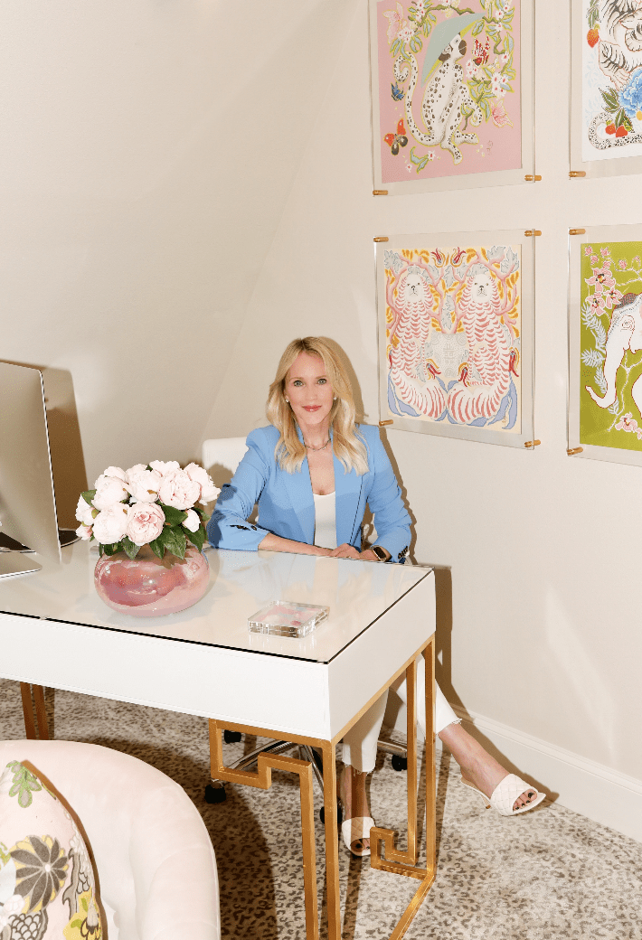 Dallas blogger shares office decor inspiration and prints by Pink Lion Dog.