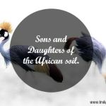 Sons and Daughters of the African soil.