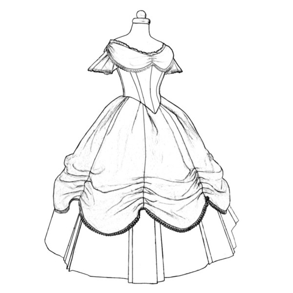 Demi Fashions 1860s Ball Gown Pattern Truly Victorian