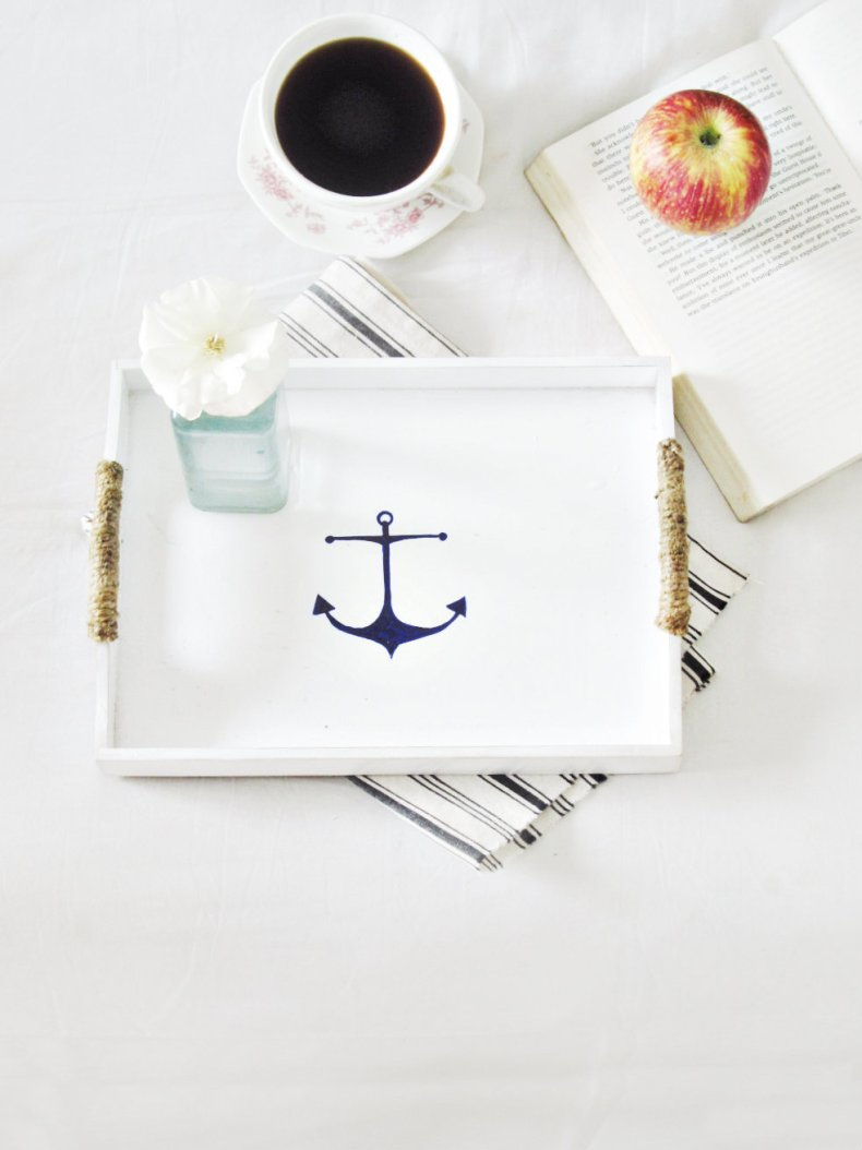 nautical tray makeover 4