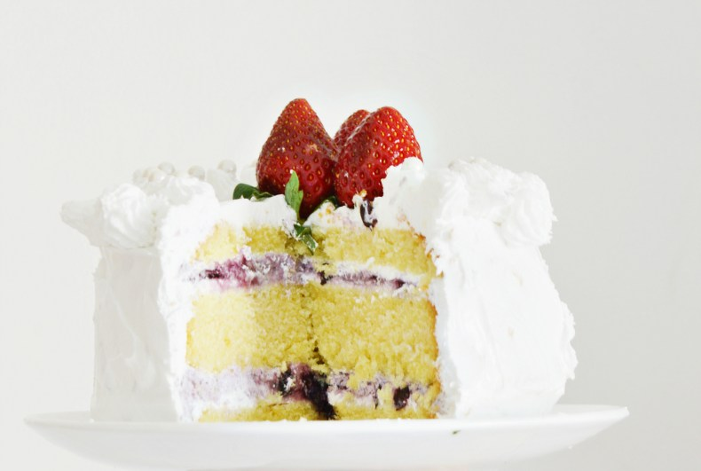 Berry Blast Cake Closeup