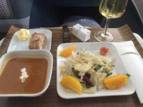 Soup - on a plane - because First Class!!