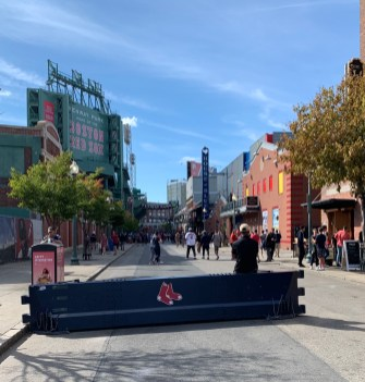 Walking to Fenway Park