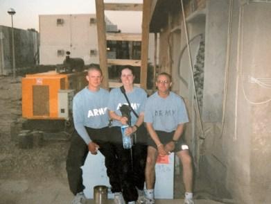 SGT Jensen, myself, and SGT Hansen 2005