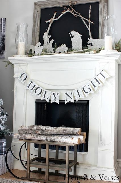 2013-Christmas-Mantel-DIY-Silhouette-Nativity