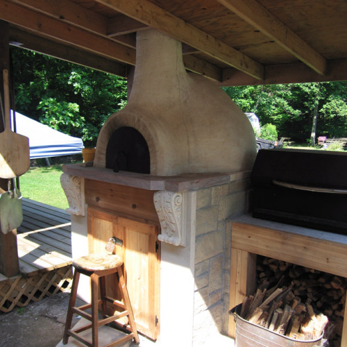 Outdoor Oven Stone Design (Trumeau Stones)