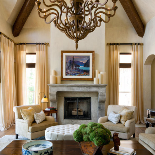 mantel design great room (Trumeau Stones)