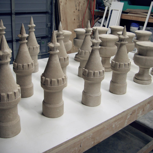 Oversized Chess Pieces Stone Design (Trumeau Stones)