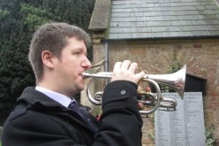 Playing the Last Post for remembrance 2015