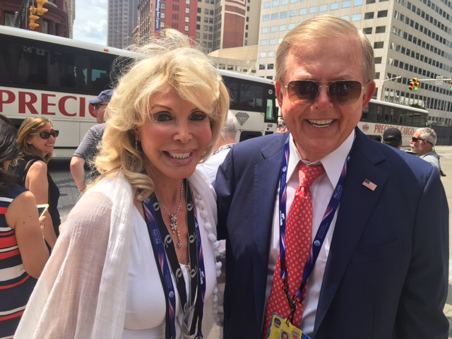 Toni Holt Kramer and Lou Dobbs